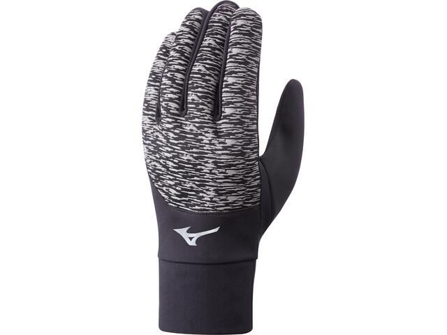 Mizuno Windproof Running Gloves grey/black
